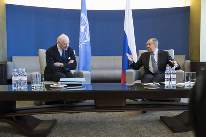 UN Special Envoy for Syria Meets Foreign Minister of Russia