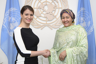 Deputy Secretary-General Meets Minister for Women's Rights of France