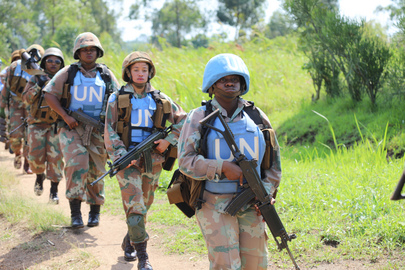 Peacekeepers of MONUSCO South African Contingent on Patrol