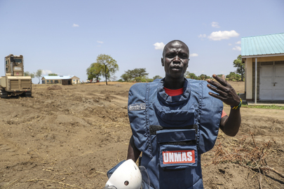 Land Cleared of Mines by UNMAS Handed Back to Community