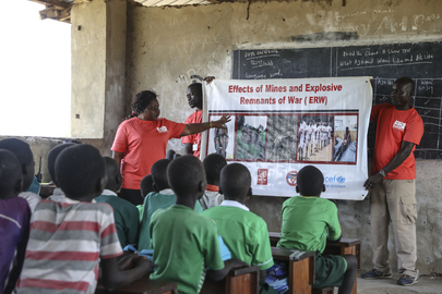 UNMAS Conducts Mine Awareness Programme at School in South Sudan
