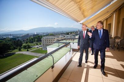 Director-General of UNOG Meets President of Switzerland