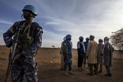 MINUSMA Peacekeepers on Patrol in Menaka