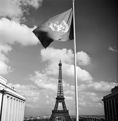 U.N. Flag Over Paris
