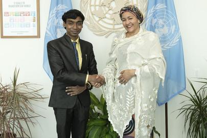 Deputy Secretary-General Meets SDG Youth Advocate, National Awardee