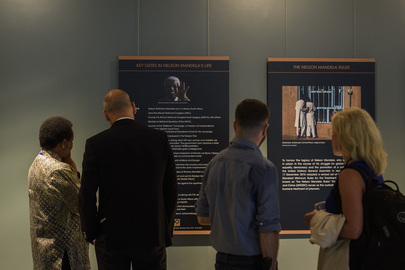 "Opening of Exhibit ""Building on the Legacy of Nelson Mandela"""