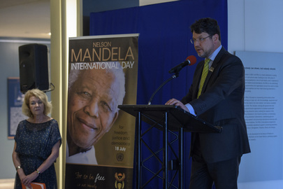"""Opening of Exhibit """"Building on the Legacy of Nelson Mandela"""""""