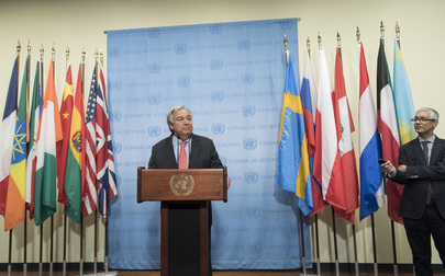 Secretary-General Briefs Media on Head of UN Human Rights Body