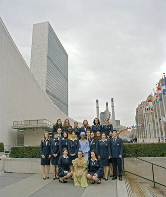 Portrait of Class of 2002 UN Tour Guides