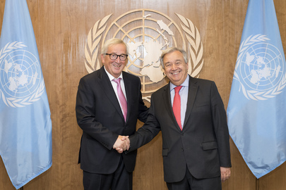 Secretary-General António Guterres Meets President of European Commission