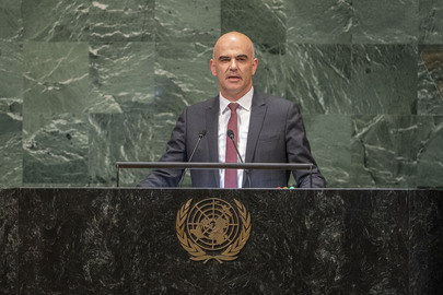 President of Switzerland Addresses General Assembly