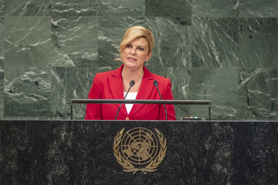 President of Croatia Addresses General Assembly