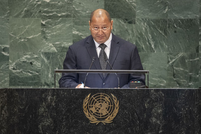 President of Tonga Addresses General Assembly