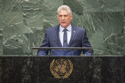President of Cuba Addresses General Assembly