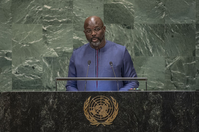 President of Liberia Addresses General Assembly