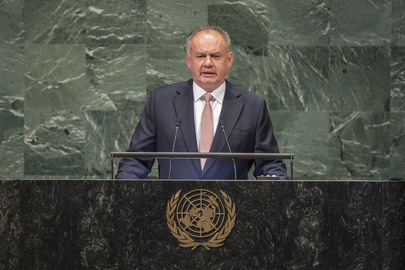 President of Slovakia Addresses General Assembly
