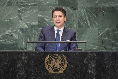 President of Council of Ministers of Italy Addresses General Assembly
