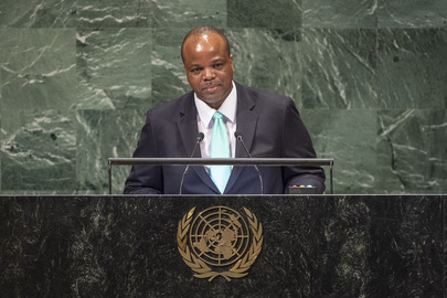 King of Eswatini Addressed General Assembly