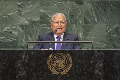 President of EI Salvador Addresses General Assembly
