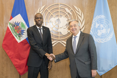 phtoto: UN S-G meets with President of Haiti