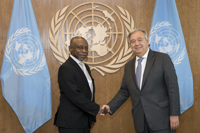 photo: UN S-G meets with President of Guyana