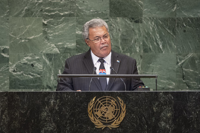 Prime Minister of Tuvalu Addressess General Assembly