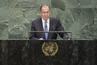 Foreign Minister of Russia Addresses General Assembly
