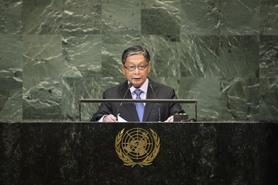 Union Minister for the Office of the State Counsellor of Myanmar Addresses General Assembly