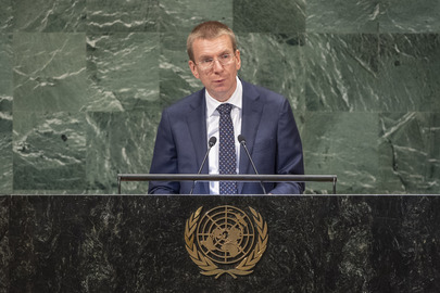 Foreign Minister of Latvia Addresses General Assembly
