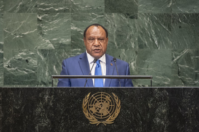 Foreign Minister of Papua New Guinea Addresses General Assembly