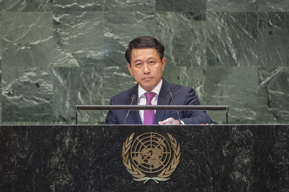 Foreign Minister of Lao People's Democratic Republic Addresses General Assembly