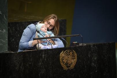 Scene from UN Headquarters in New York