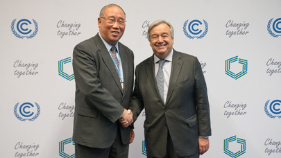 Secretary-General Meets Special Representative for Climate Change Affairs of China at COP24