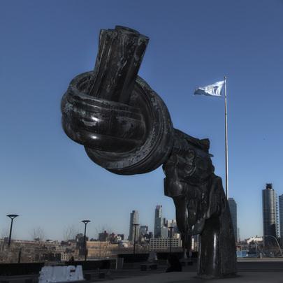 "Famed ""Non-Violence"" Sculpture at UN Headquarters"