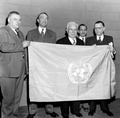 United Nations Flag Approved by General Assembly's Legal Committee
