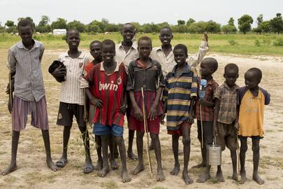Children in Leer, South Sudan