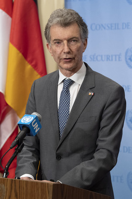 Security Council President Briefs Press after Consultations