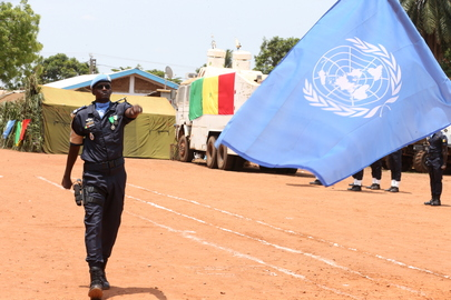 Medal Ceremony for Senegalese Peacekeepers Serving in Central African Republic