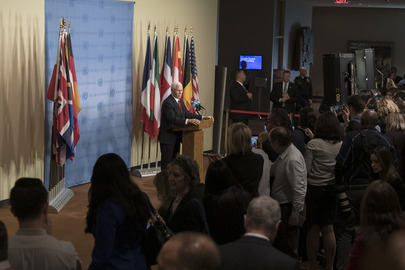 Vice-President of USA Briefs Press after Security Council Meeting