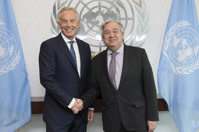 Secretary-General Meets Executive Chairman of Institute for Global Change