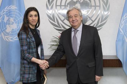 Secretary-General Meets Nobel Laureate and UNODC Goodwill Ambassador