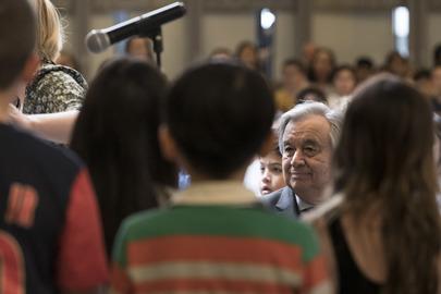 Secretary-General Visits United Nations International School