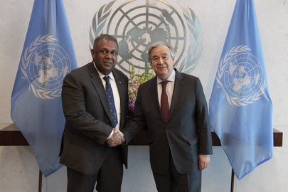Secretary-General Meets Minister of Finance and Media of Sri Lanka