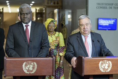 Joint Press Encounter with Secretary-General and African Union Commission
