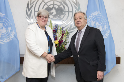 Secretary-General Meets His Special Representative for Sustainable Energy for All