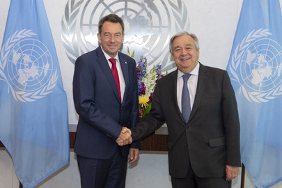Secretary-General Meets President of Red Cross