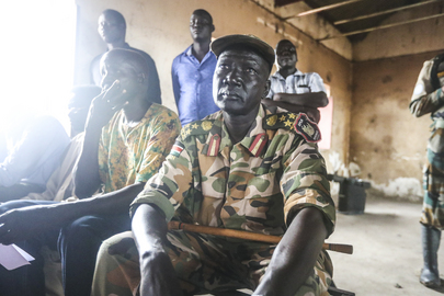 South Sudan People's Defense Forces Leave Kodok Secondary School