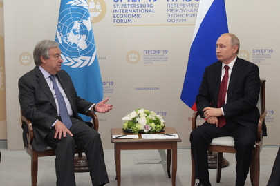 Secretary-General Meets President of Russian Federation