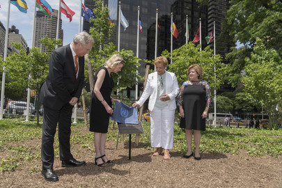 Planting of Tree at UNHQ to Commemorate Anne Frank's Legacy and Victims of the Holocaust