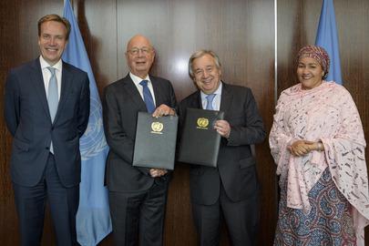 UN and WEF Sign MOU on Strategic Partnership Framework for 2030 Agenda